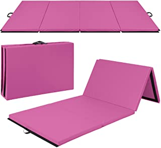 Best Choice Products 10ftx4ftx2in Folding Gym Mat 4-Panel Exercise Gymnastics Aerobics Workout Fitness Floor Mats w/ Carry...