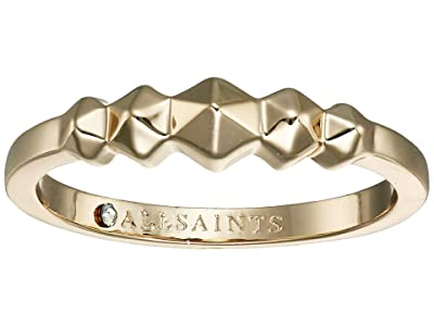 AllSaints Hex Band Ring (Gold) Ring