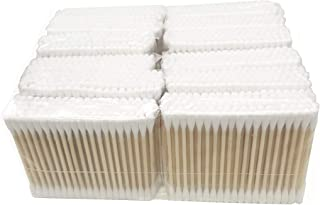 1200 Pieces Organic Cotton Swabs with Wooden Sticks | Biodegradable Cotton Buds | Eco Friendly Cotton Swabs