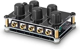 Little Bear MC5 Mini portátil estéreo de 4 canales, mezclador de audio pasivo en vivo, grabación de consola de estudio en ...