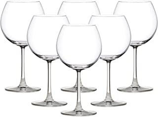 Ocean 015D22 Pack of 6 Madison Burgundy Wine Glass, Clear, H 209.0 x W 85.0 x D 80.0 mm, 650 ml, Glass