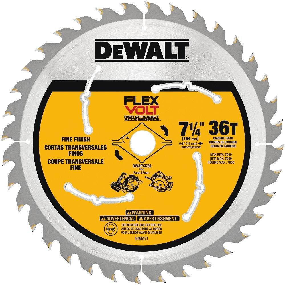 DEWALT FLEXVOLT 7-1 4-Inch Today's Super special price only Circular DWAFV373 36-Tooth Saw Blade
