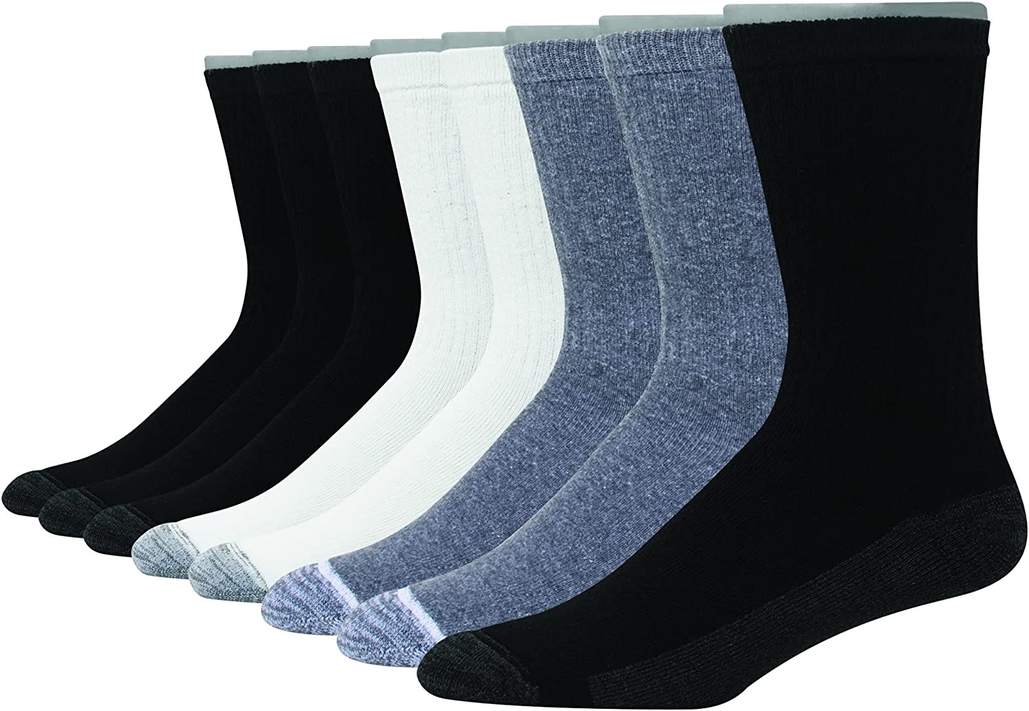 Hanes Ultimate Men Ultra Cushion Freshiq Odor Control With Wicking Crew Socks, 8-pair Pack