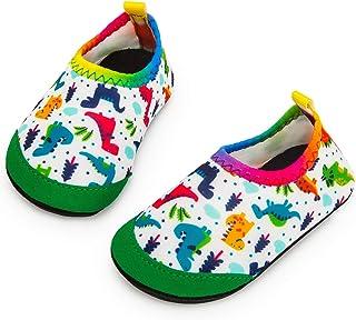Yorgou Zapatos de agua para niños y niñas, zapatos de playa para niños pequeños, calcetines acuáticos descalzos antidesliz...
