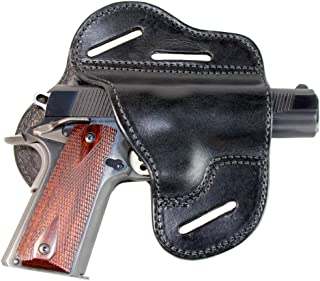 Relentless Tactical - The Ultimate Leather Gun Holster | 3 Slot Pancake Style Belt Holster | Handmade in the USA! | Fits all 1911 Style Handguns