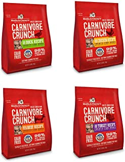 Stella and Chewy's Freeze Dried Carnivore Crunch Raw Dog Treats Variety Pack | 4 Dog Treat Bags 3.25 oz Each | Beef, Duck, Chicken, Turkey | Stella and Chewy's Gluten Free Freeze Dried Dog Treats