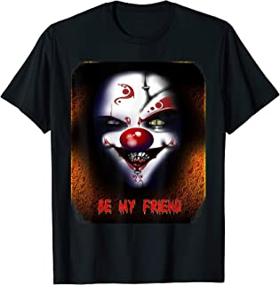 Evil and Scary Clown on Fire, Bloody Be My Friend, MbASSP T-Shirt