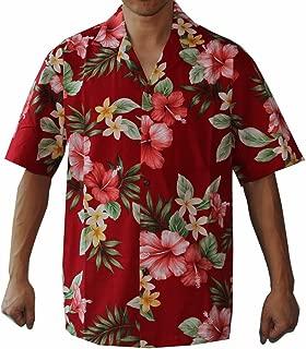 Alohawears Clothing Company Mens Hibiscus White Wedding Cruise Luau Hawaiian Shirt