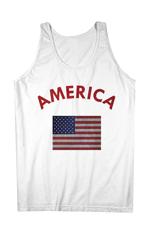 America American USA Flag 男性用 Tank Top Sleeveless Shirt
