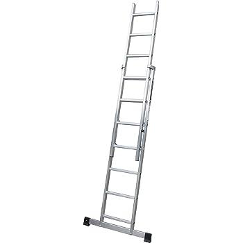 Escalera profesional de aluminio de apoyo extensible con barra ...