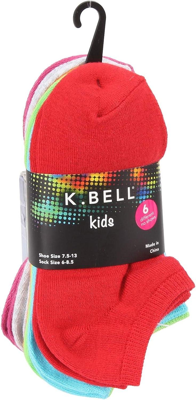 K. Bell Kids' Big Noahs ARK 6 Pair Pack, GYHTR, Shoe Size: 11-14