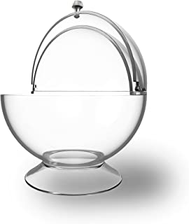 Clear Candy Bowl - Cookies, Candies, Mints for Office, Parties, Home Storage