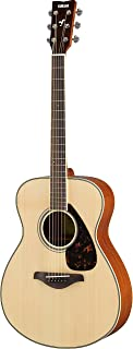 Yamaha FS820 Small Body Solid Top Acoustic Guitar, Natural