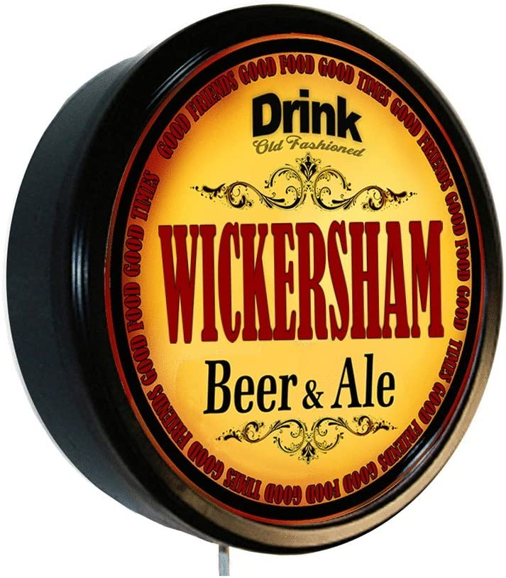 WICKERSHAM Beer and Ale Limited time sale Sign Wall Cerveza Lighted Overseas parallel import regular item
