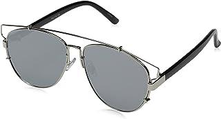 Technologic Full Metal Crossbar Flash Mirror Flat Lens Aviator Sunglasses