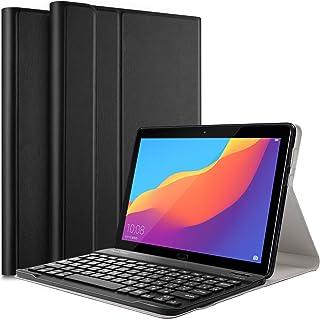 【PCATEC】 HUAWEIMediaPad T5 10 タブレット専用レザーTPUケース付き Bluetooth キーボード☆US配列☆かな入力対応 (ブラック)