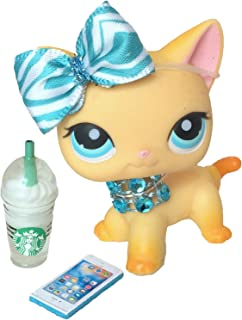 Littlest Pet Shop Accessories LPS Lot Bow Starbucks Necklace Phone CAT NOT INCLUDED