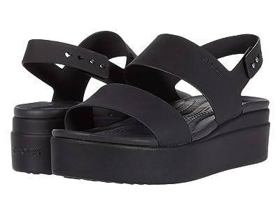 Crocs Brooklyn Low Wedge (Black/Black) Women