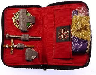 Travel case sick call set crucifix oil stock pyx altar linens stole aspergillum