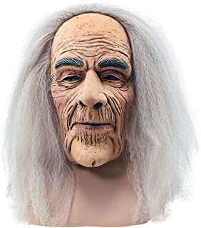 Bristol Novelty BM248 Creepy Old Man Mask and Hair, One Size