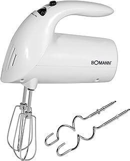 Bomann HM 350 CB Batidora de repostería, 5 velocidades, 250 W, 0 Decibelios, Plástico, Blanco