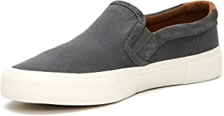 FRYE Men's Ludlow Slip ON Sneaker, Grey, 11 M M US