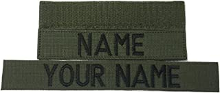 OD GREEN Name Tape or US Army, US Air Force, Civil Air Patrol, Police, US Marine Tape, with Fastener or Sew-On