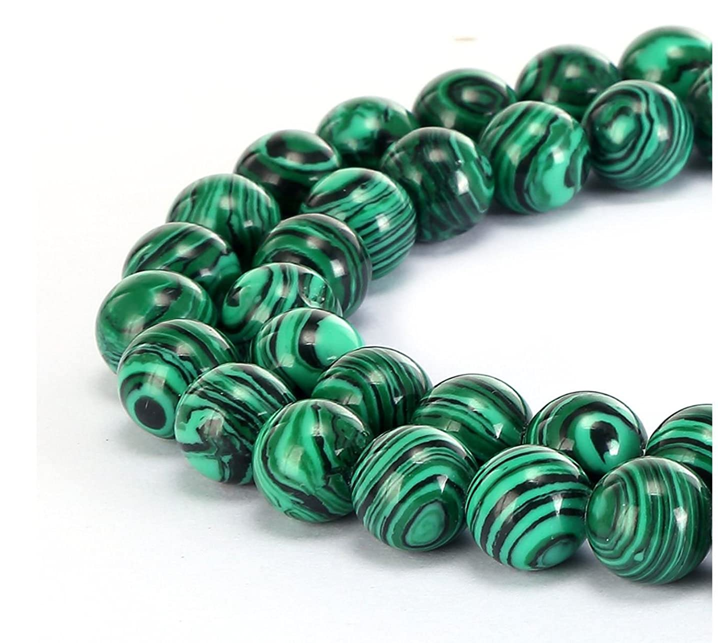 Top Quality Synthetic Green Malachite Gemstone 4mm Round Loose Gems Stone Beads 15 Inch for Jewelry Craft Making GF25-4