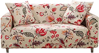 FORCHEER Stretch Sofa Slipcover Printed Pattern 3-Seat Spandex Couch Cover for 3 Cushion Couch 1 Piece Furniture Protector for Living Room, Pets, Sofa