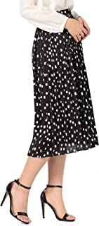 (ノーリーズ) NOLLEY'S サテンオーガンジードットプリーツスカート 9-0035-1-06-013