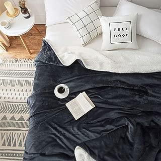 SONORO KATE Sherpa Fleece Blanket Super Soft Reversible Ultra Throw Blanket Plush Fuzzy Blanket Microfiber (Dark Grey, King (104 x 90 Inch))