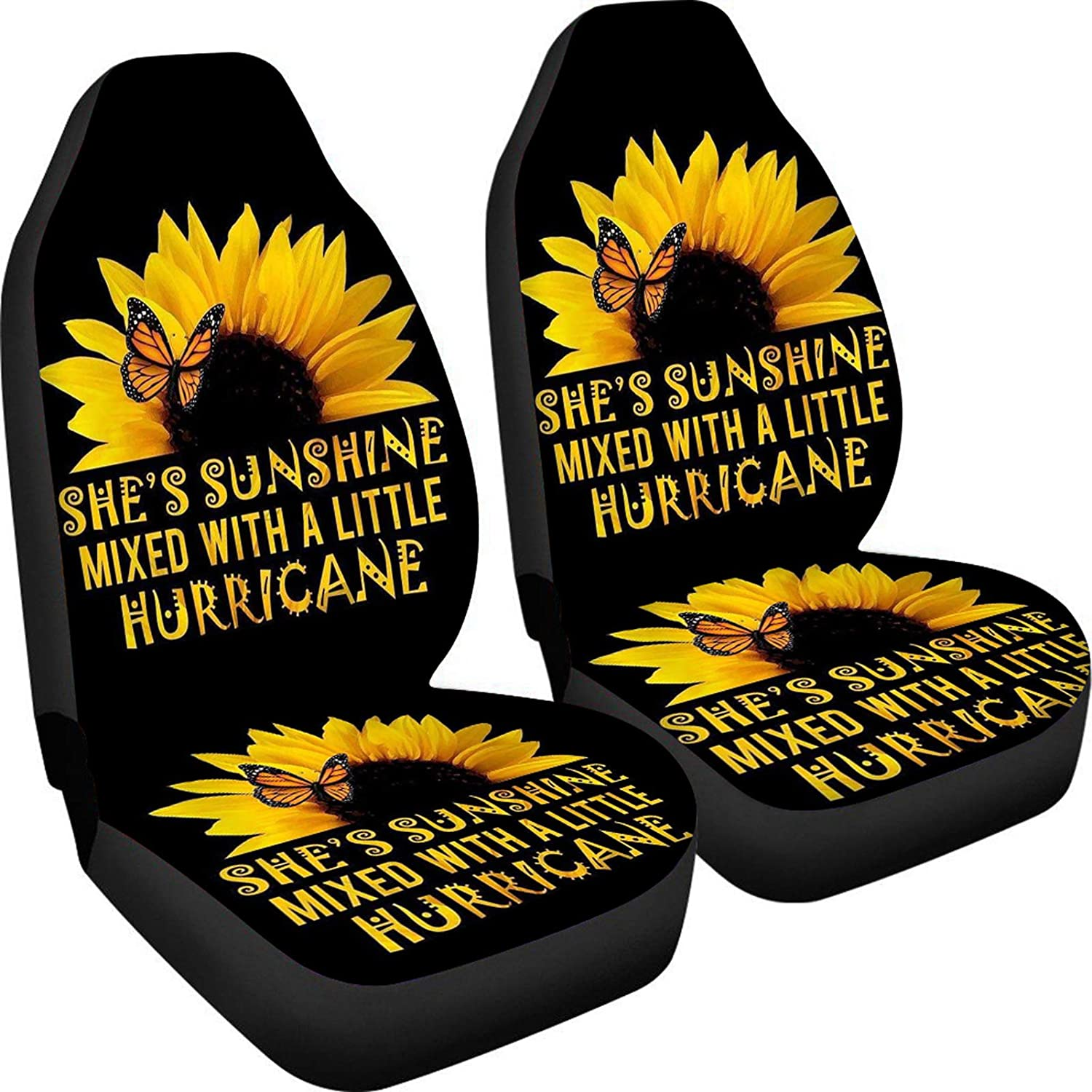 FUIBENG Sunflower Butterfly 70% OFF Outlet Car Seat Covers Soft Set Comfor 2 of Max 50% OFF