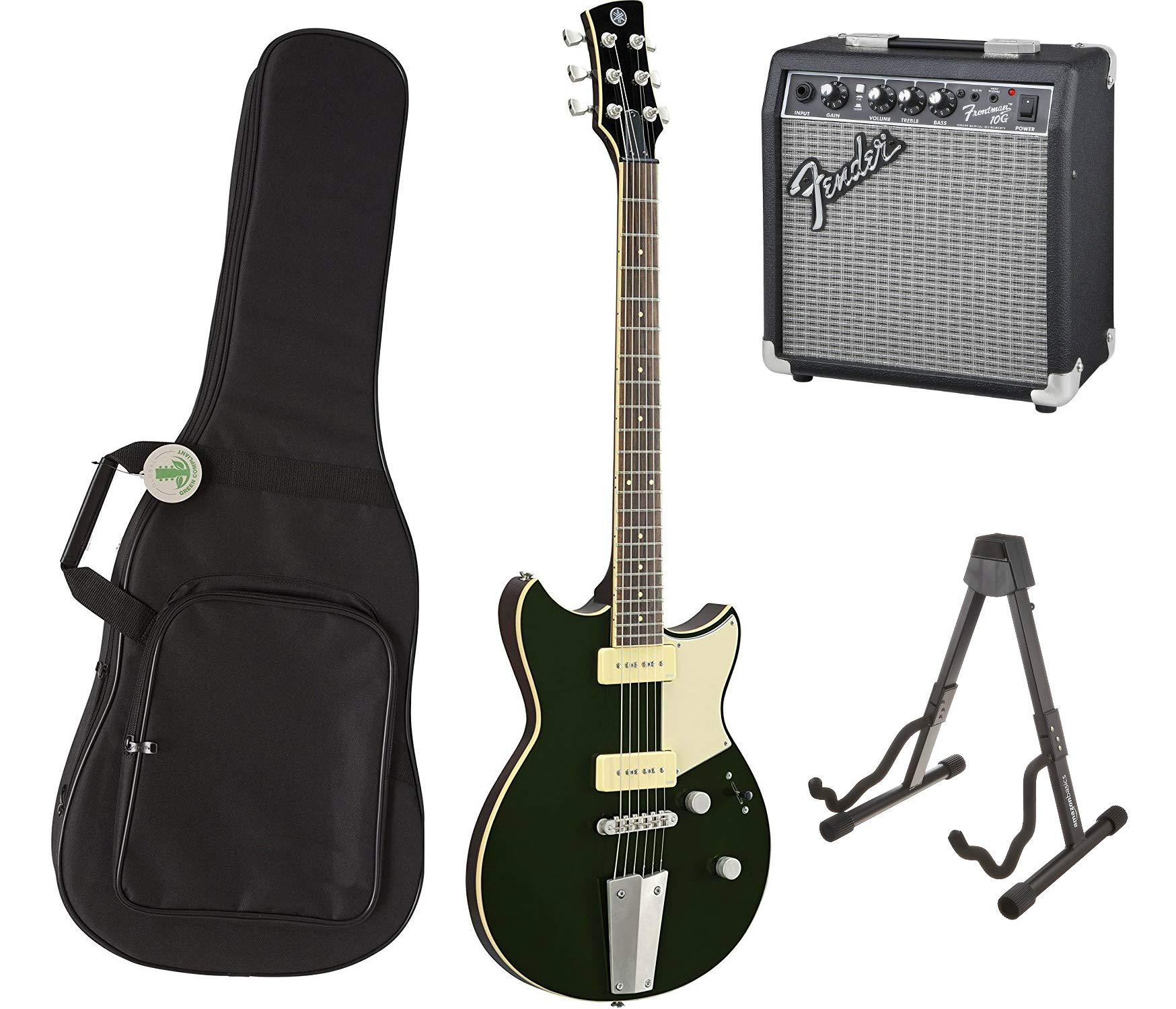 Cheap Yamaha Revstar RS502T BGR Solidbody Electric Guitar Bowden Green with Fender Frontman 10G Amplifier Gig Bag and Folding Guitar Stand Black Friday & Cyber Monday 2019