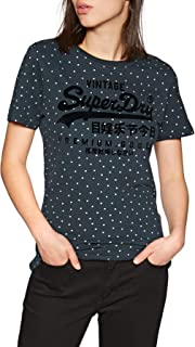 Superdry P Goods Shimmer Aop Entry Tee Shirt, Eclipse Navy