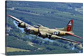 GREATBIGCANVAS Gallery-Wrapped Canvas Entitled B-17 Flying Fortress Flying Over Concord, California by Phil Wallick 48