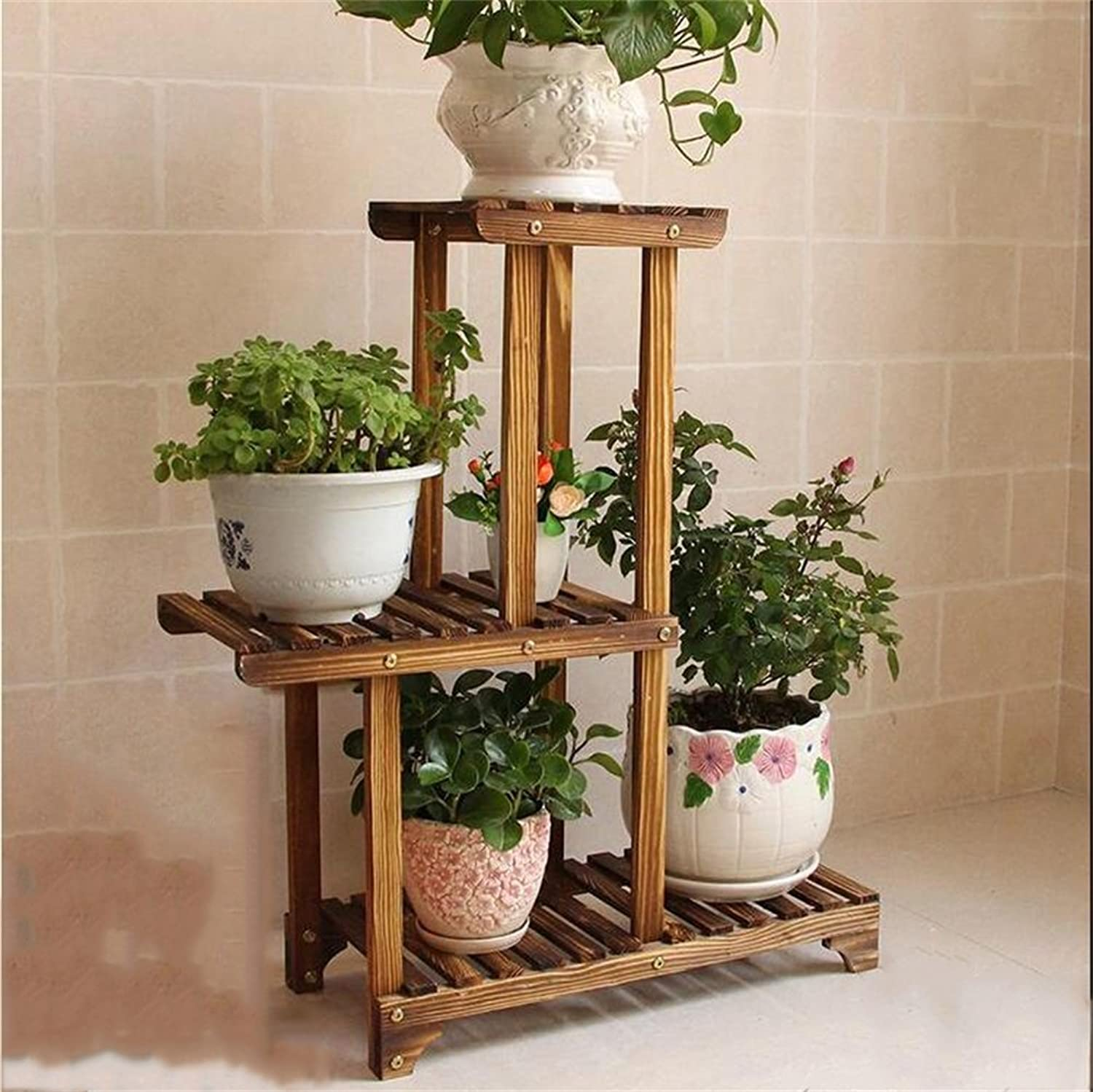 Plant European Wooden Flower Stand Multi-Layer Solid Wood Floor Pot Rack Green Shelf Simple Indoor Bonsai Balcony Frame Accessories