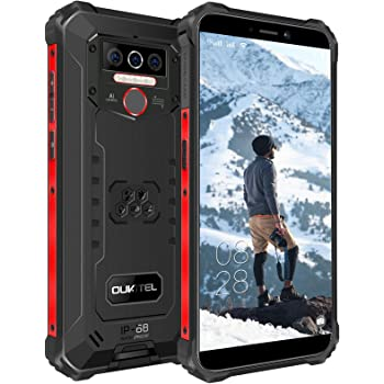 OUKITEL WP5 (2020) Rugged Smartphone, 8000mAh Battery IP68 Waterproof Android 10 Unlocked Cell Phones 4G LTE Dual SIM, 5.5inches 4GB 32GB Triple Camera Face/Fingerprint Unlock GPS Global Version