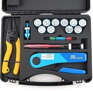 JRready ST1060 Tool Kit,YJQ-W1A Crimper M22520/2-01&Ideal 45-416 Wrie Stripper&11 AFM8 Positioners&G125 Gauge&DAK20 DRK20B Installing Removal Tool
