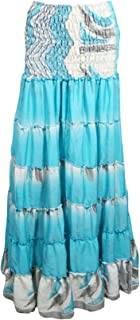 crinkled maxi skirt