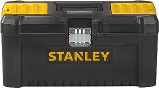 Stanley STST1-75518 Gereedschapskist, 16 inch, 20 x 19,5 x 41 cm, gereedschapskoffer met metalen sluitingen, stevige kunst...