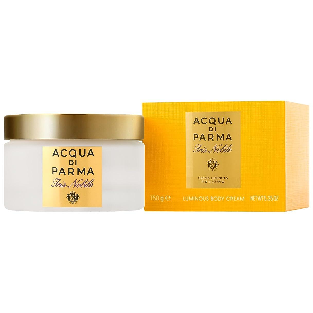 花束言語あいまいなアクア?ディ?パルマアイリスノビレボディクリーム150ミリリットル (Acqua di Parma) (x6) - Acqua di Parma Iris Nobile Body Cream 150ml (Pack of 6) [並行輸入品]