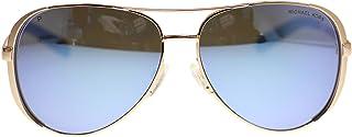 6053ad592a Michael Kors MK5004 Chelsea Polarized Sunglasses Rose Gold w Purple Mirror  (1003 22