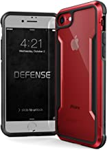 iPhone 8 & iPhone 7 Case, X-Doria Defense Shield Series - Military Grade Drop Tested, Anodized Aluminum, TPU, and Polycarbonate Protective Case for Apple iPhone 8 & 7 (Red)