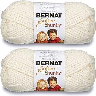 2-Pack - Bernat Softee Chunky Yarn, Natural, Single Ball