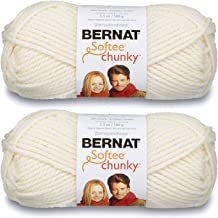 2-Pack - Bernat Softee Chunky Yarn, Natural, Single Ball