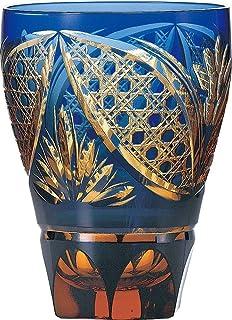 東洋佐々木ガラス グラス 彩花切子 瑠璃 タンブラー ブルー 355ml HG210-13BL