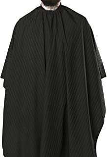 Best Barber Strong The Barber Cape, Hair Repelling and Static-Reducing Material, Flexible Elastic Neckband for Comfort, Water Resistant Fabric, Oversized for Complete Coverage - Black/White Stripe Review