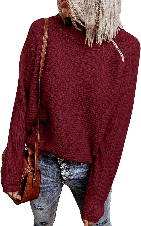 HOTAPEI Women's Fall Winter 予約 1 4 Sweater Zipper Long チープ Turtleneck S