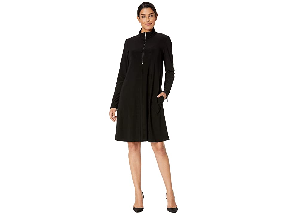 Karen Kane Zip-Up Travel Dress (Black) Women