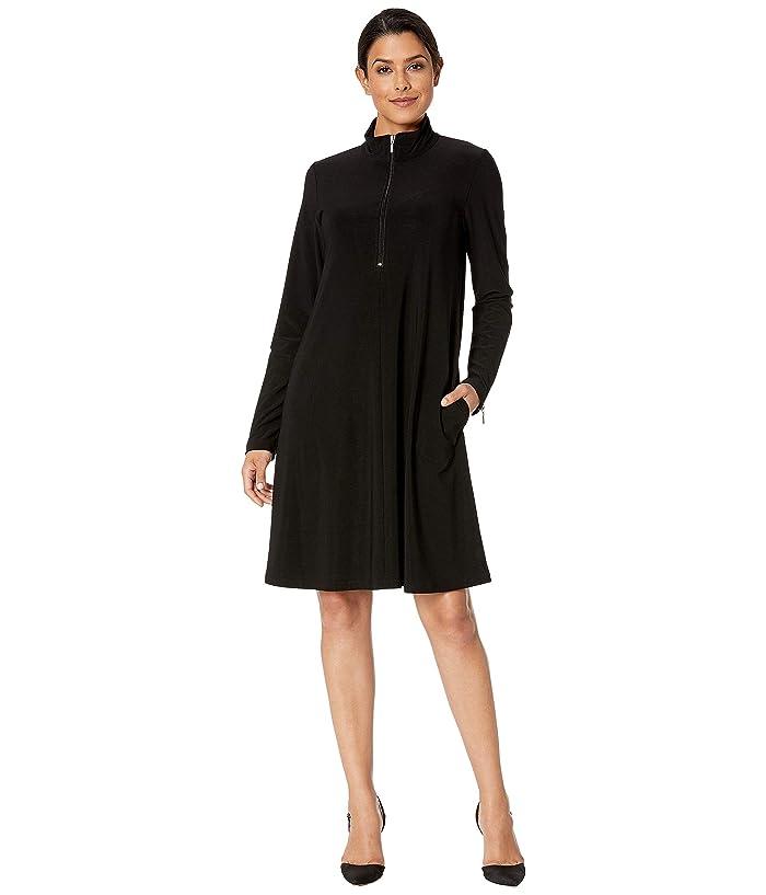 Karen Kane Zip-Up Travel Dress (Black) Women